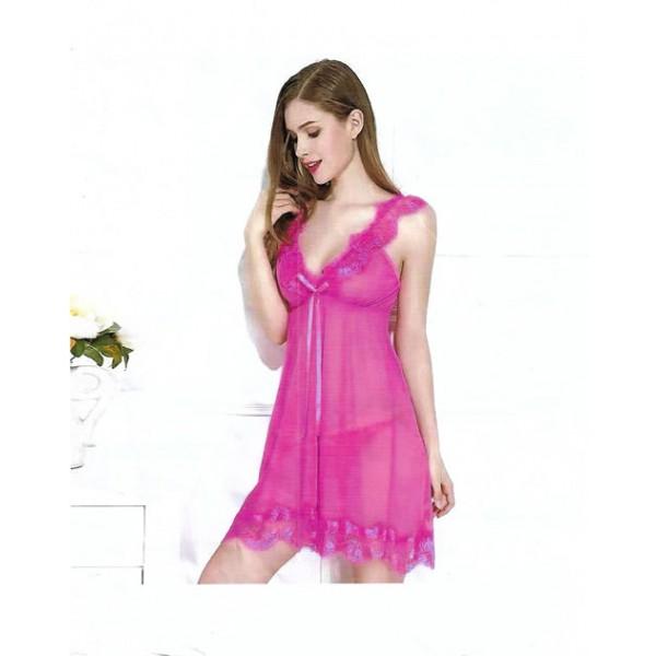 Fancy Pink One Part Nightwear