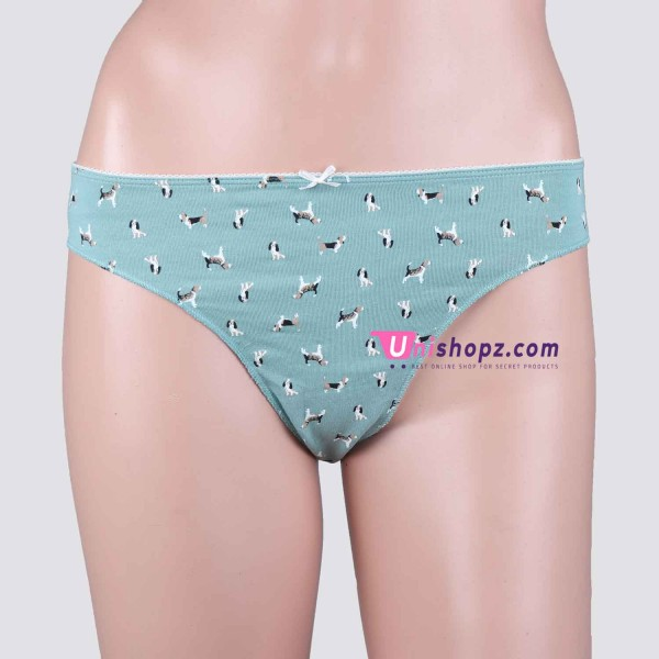 Cayan Printed Cotton Thongs Women Lingerie