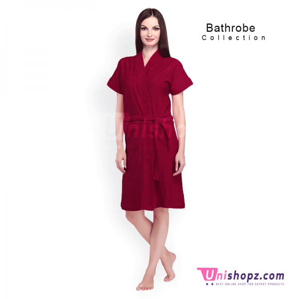 Maroon Bathrobe for Ladies