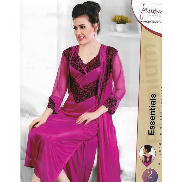 Exotic Bridal Pink 2 Part Nightwear