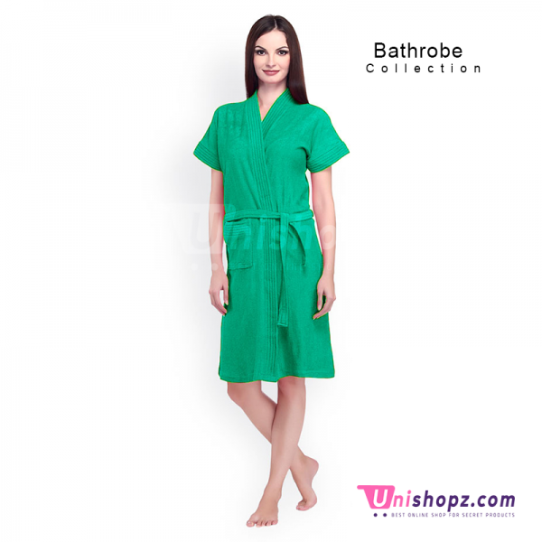 Green Cyan Bathrobe for Women