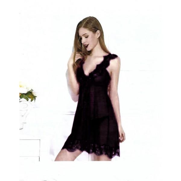 Fancy Black One Part Nightwear