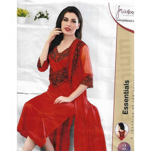 Premium Bridal Red 2 Part Nightwear