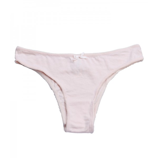 Solid Light Peach Thong Panty