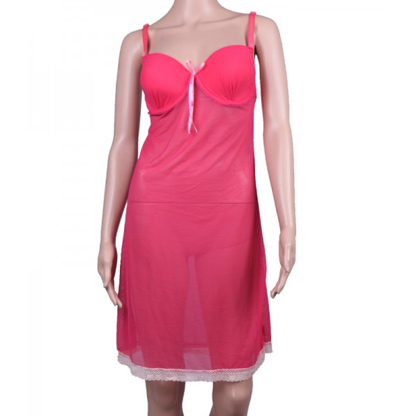 Nighty Light Pink lace Net Nighty