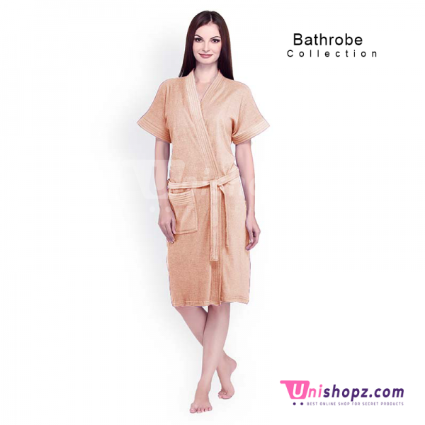 Light Peach Bathrobe For Women