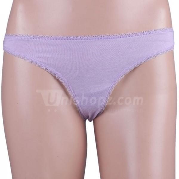 Lavender Lace Thong Panty