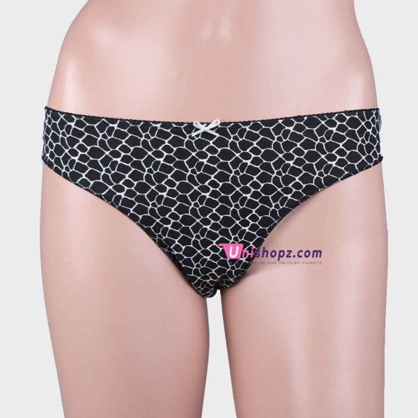 Black Cotton Thongs Women Lingerie