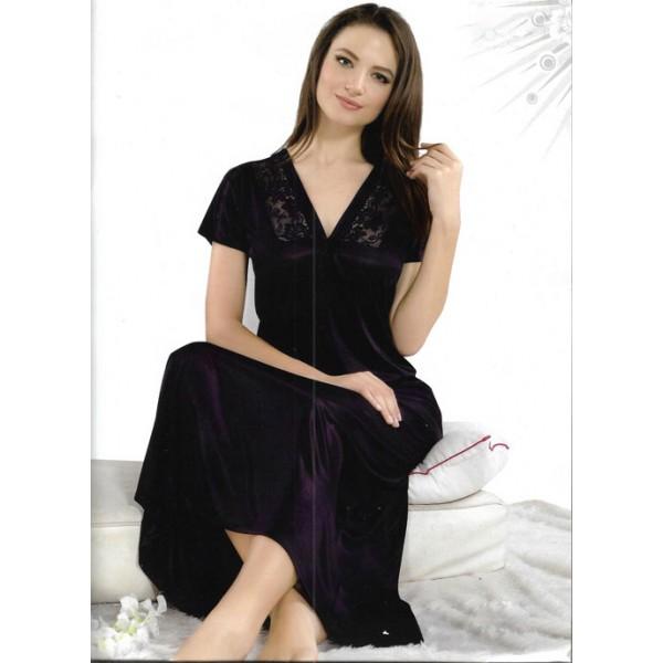 Dark Purple One Part Nightwear