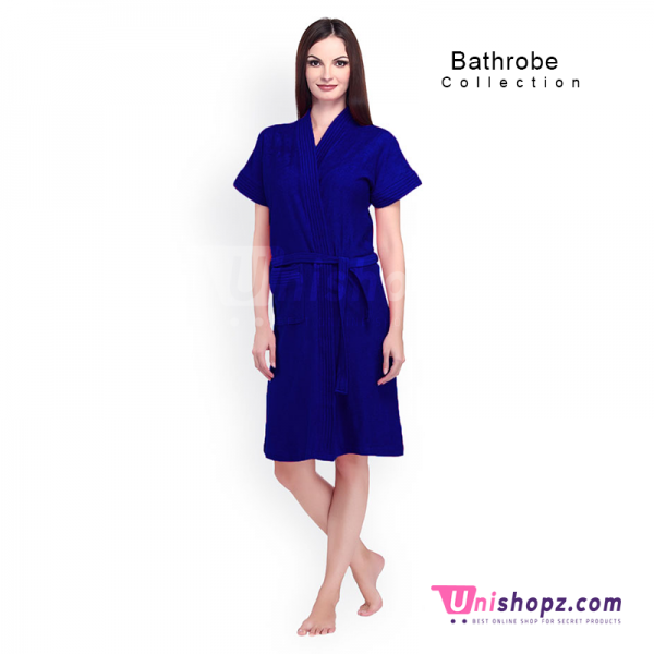 Deep Blue Bathrobe for Ladies