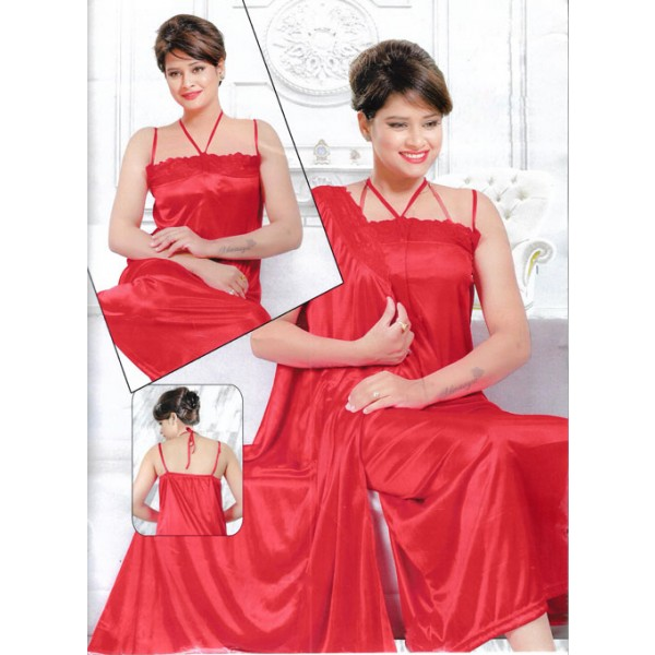Premium Red 2 Parts Nightwear