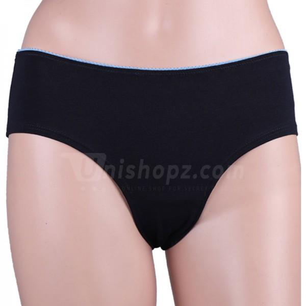 Dark Black Cotton Panty